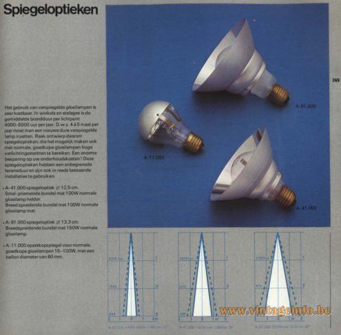 Raak 'Spiegeloptieken' (specular appearance) A-41.000, A-91.000, A-11.000