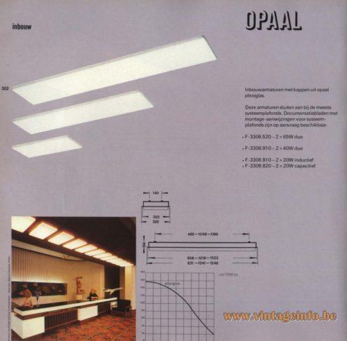 Raak 'Opaal' Inbouw: F-3306.520, F-3306.910, F-3306.810, F-3306.820
