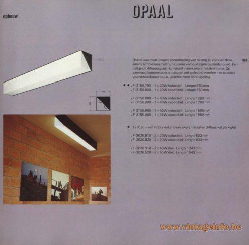 Raak 'Opaal' F-3150.790, F-3150.800, F-3150.880, F-3150.890, F-3150.980, F-3150.990, F-3020.810, F-3150.820, F-3150.910, F-3150.520