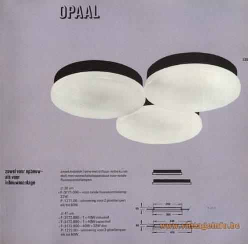 Raak 'Opaal' F-3171.000, P-1271.00,F-3172.880, F-3172.890, F-3172.900, P-1272.00
