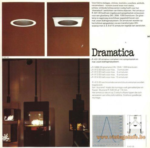 Raak 'Dramatica' R-431.00, R-910.00, R-912.00, R-913.00, R-914.00 Recessed Lamps