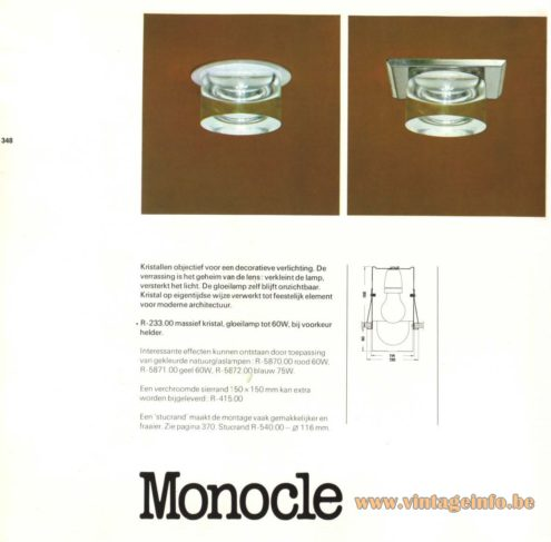 Raak 'Monocle' R-233.00 Recessed Lamps