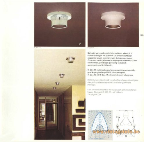Raak R-307.14, R-307.15 Ceiling Lights/Flush Mount