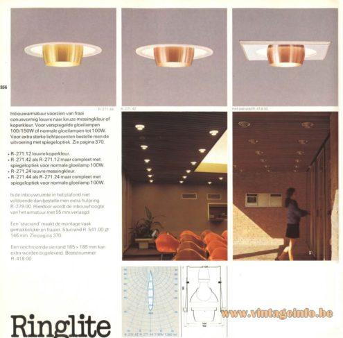 Raak 'Ringlite' R-271.12, R-271.42, R-271.24, R-271.44 Recessed Lamps