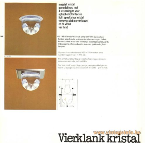 Raak 'Vierklank Kristal' (four sound crystal) R-133.00 Recessed Light