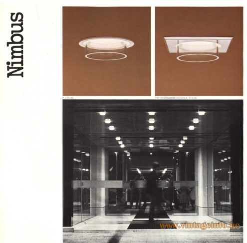Raak 'Nimbus' R-257.00, R-257.40, R-375.00, R-375.40 Recessed Light