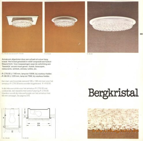 Raak 'Bergkristal' (rhinestone) Recessed Light R-276.00, R-66.00