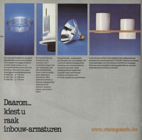 Raak R-540.00, R-541.00, R-550.00 Recessed Light, 'Thats... Why You Choose Raak Recessed Lights
