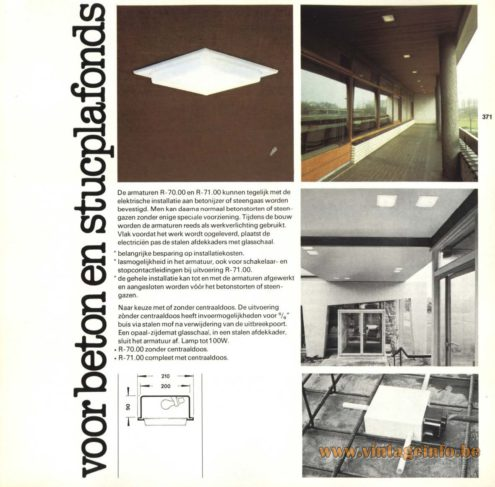 Raak R-70.00, R-71.00 Recessed Light, 'Voor Beton en Stucplafonds' (for concrete and stucco ceilings)
