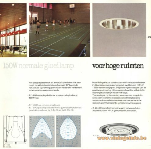 Raak R-234.00 Recessed Light, 'Voor Hoge Ruimten' (for high spaces)