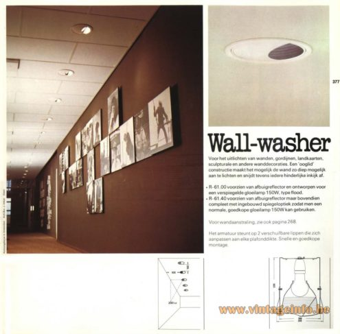 Raak 'Wall-Washer' R-61.00 , R-61.40 Recessed Light