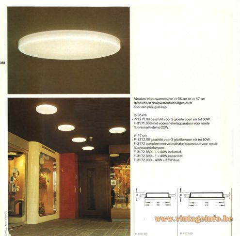 Raak P-1271.00, F-3171.000, P-1272.00, F-3172.880, F-3172.890, F-3172.900 Recessed Light