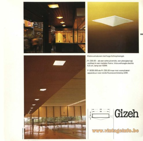 Raak 'Gizeh' R-235.00, F-3035.000 Recessed Light