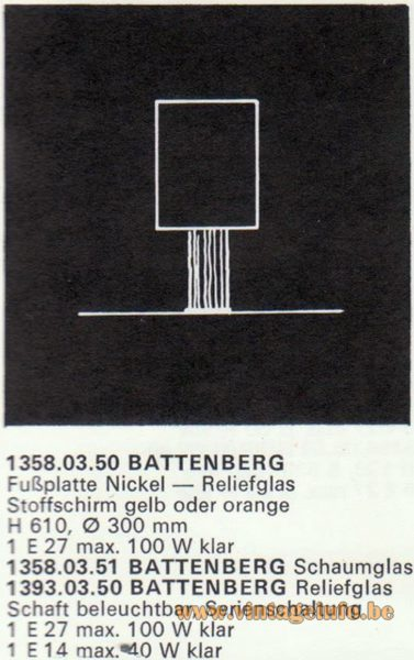 Kalmar Franken KG Table Lamp Battenberg