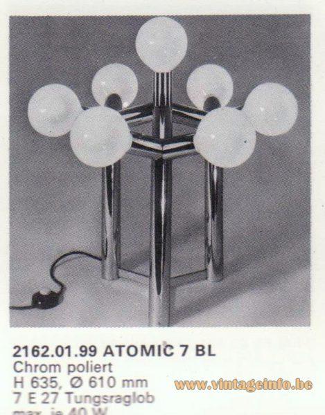 Kalmar Franken KG Table or Floor Lamp Atomic 7 BL