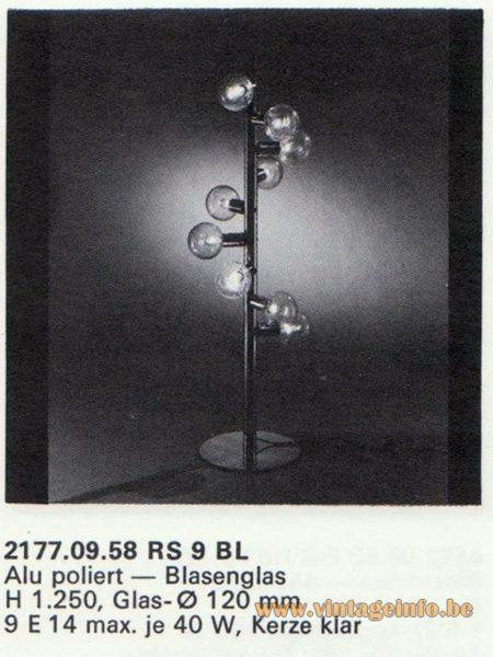 Kalmar Franken KG Floor Lamp RS 9 BL