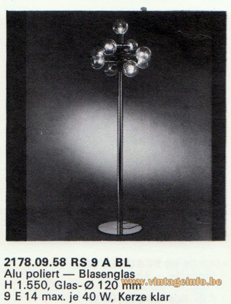 Kalmar Franken KG Floor Lamp RS 9 A BL