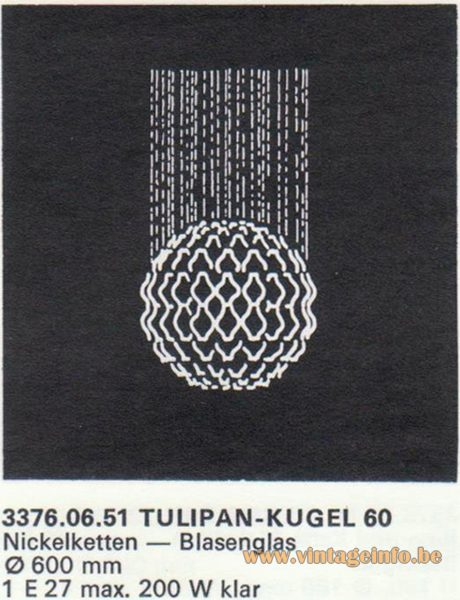 Kalmar Franken KG Tulipan Kugel (ball) 60 Flush Mount