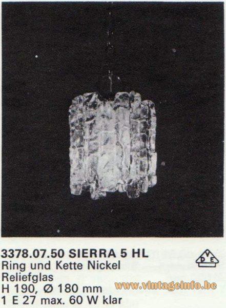 Kalmar Franken KG Pendant Light Sierra 5 HL