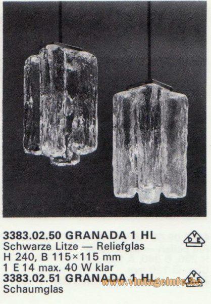 Kalmar Franken KG Pendant Light GRANADA 1 HL
