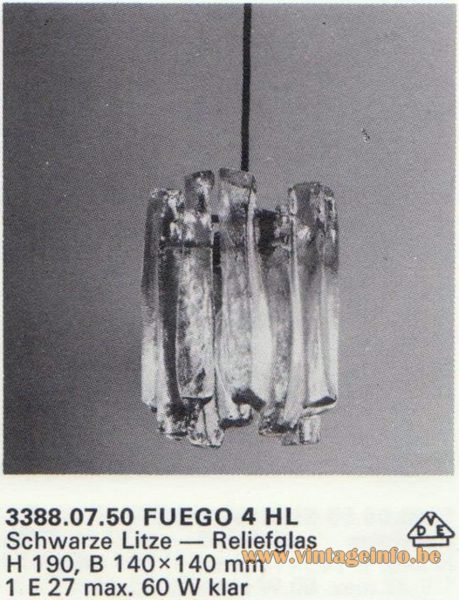 Kalmar Franken KG Pendant Light Fuego 4 HL