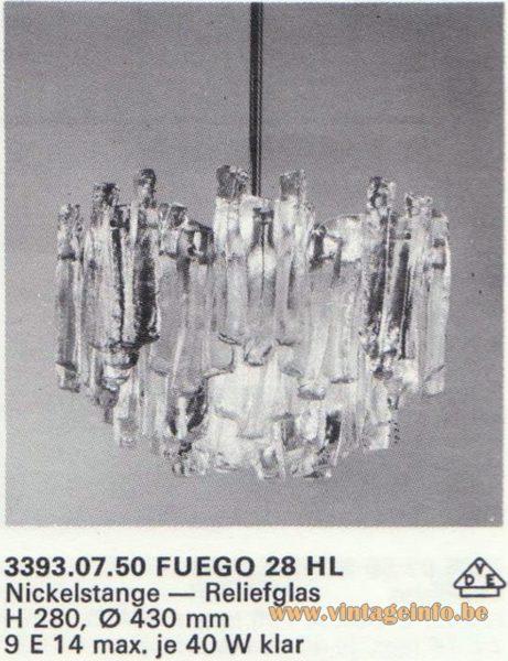 "Kalmar Franken KG ""Ice Block"" Chandelier Fuego 6 HL"