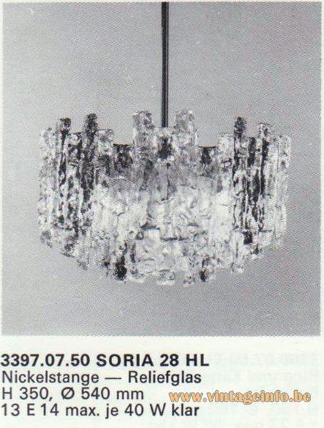 Kalmar Franken KG Chandelier Soria 28 HL