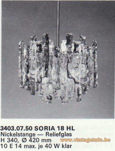 Kalmar Franken KG Chandelier Soria 18 HL