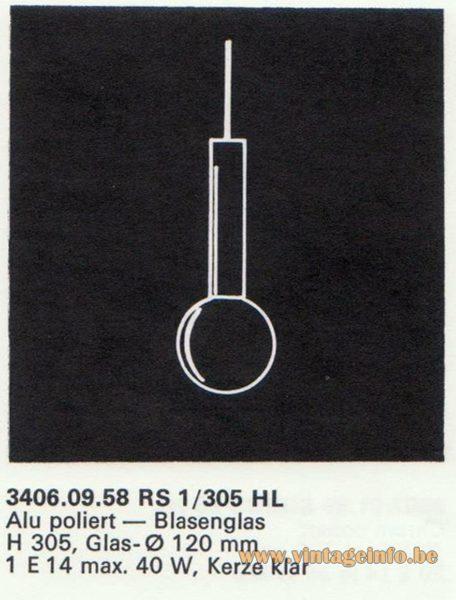 Kalmar Franken KG Pendant Lamp RS1/305 HL