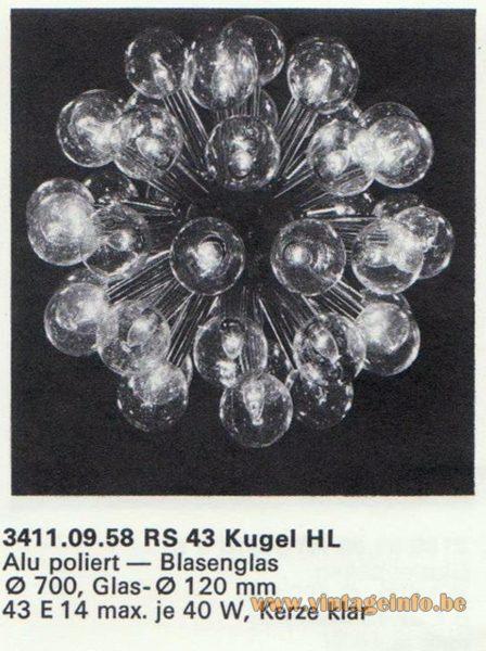 Kalmar Franken KG Chandelier RS 43 KUGEL (ball) HL