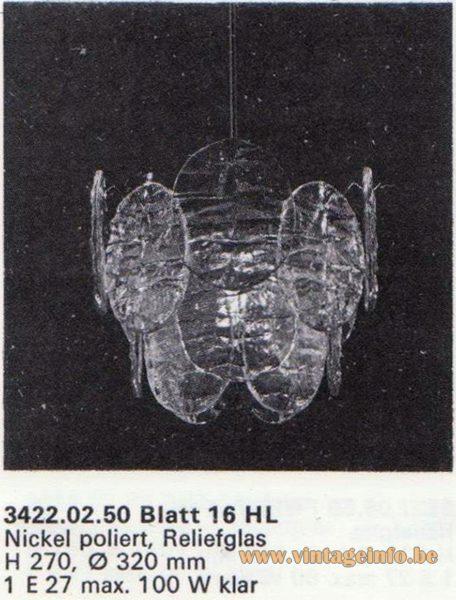 Kalmar Franken KG Chandelier Blatt (leaf) 16 HL