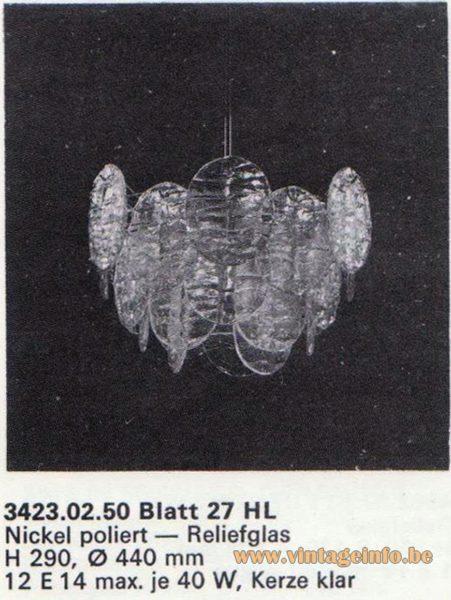 Kalmar Franken KG Chandelier Blatt (leaf) 27 HL