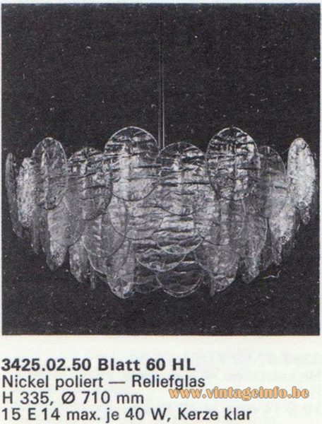 Kalmar Franken KG Chandelier Blatt (leaf) 60 HL