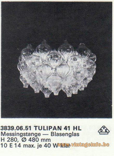 Kalmar Franken KG Tulipan 41 HL Chandelier