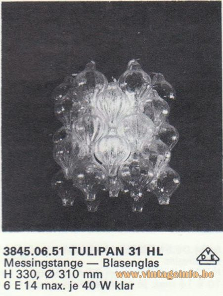 Kalmar Franken KG Tulipan 31 HL Chandelier