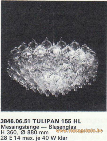 Kalmar Franken KG Tulipan 155 HL Chandelier