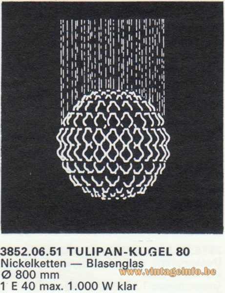 Kalmar Franken KG Tulipan Kugel (ball) 80 Flush Mount