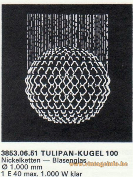 Kalmar Franken KG Tulipan Kugel (ball) 100 Flush Mount