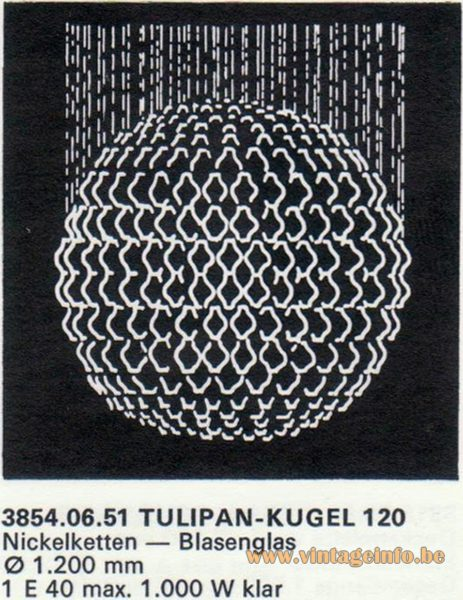 Kalmar Franken KG Tulipan Kugel (ball) 120 Flush Mount