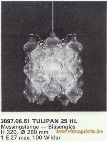 Kalmar Franken KG Tulipan Chandelier 25 HL