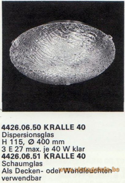 Kalmar Franken KG Flush Mount or Sconce Kralle 40 (claw)