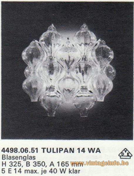Kalmar Franken KG Tulipan 14 WA Wall Lamp