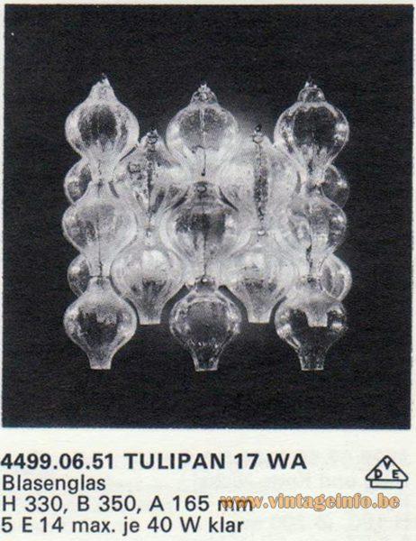 Kalmar Franken KG Tulipan 17 WA Wall Lamp