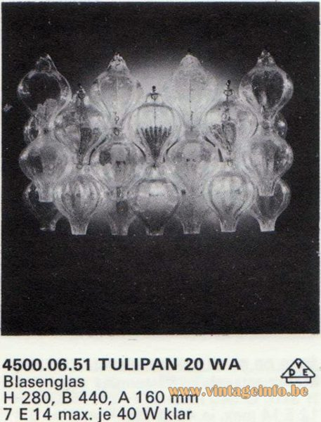 Kalmar Franken KG Tulipan Wall Lamp 20 WA