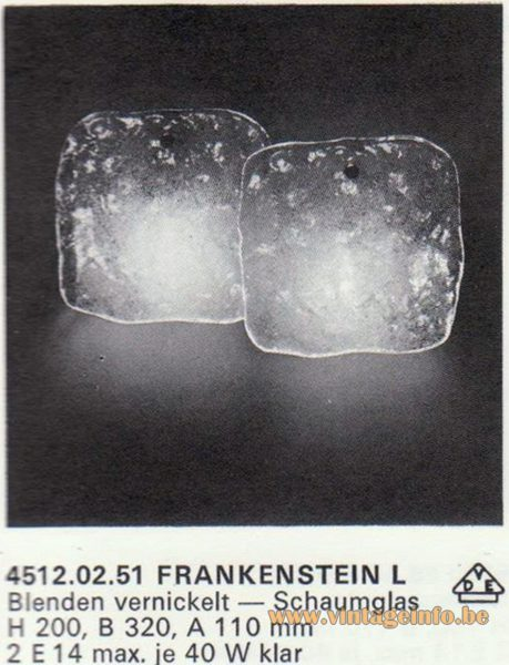 Kalmar Franken KG Wall Light Frankenstein L