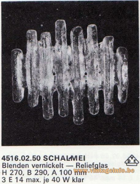 "Kalmar Franken KG ""Ice Block"" Wall Light Schalmei (Shawm)"