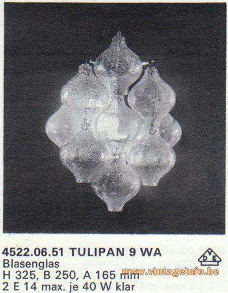 Kalmar Franken KG Tulipan 9 WA Wall Lamp