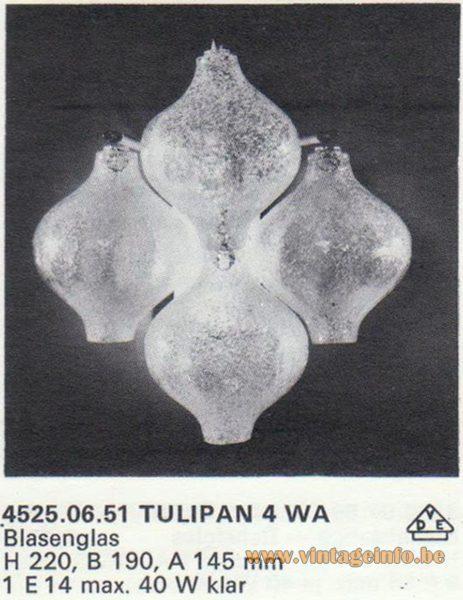 Kalmar Franken KG Tulipan 4 WA Wall Lamp