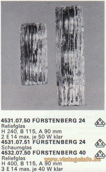 Kalmar Franken KG Wall Light Fürstenberg 24