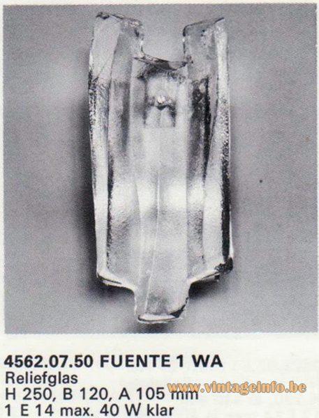 "Kalmar Franken KG ""Ice Block"" Wall Light Fuente 1 WA"